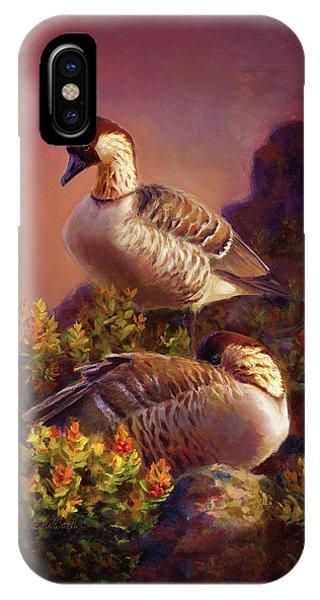 First Light Nene Hawaiian Goose IPhone Case