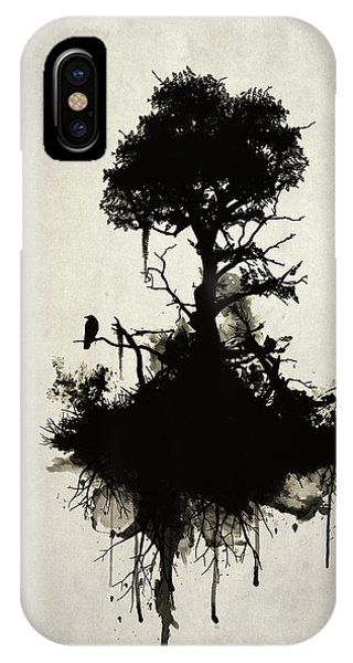 Bird Watercolor iPhone Case - Last Tree Standing by Nicklas Gustafsson
