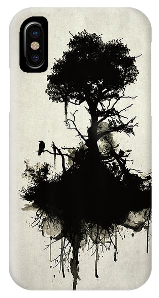 Death iPhone Case - Last Tree Standing by Nicklas Gustafsson