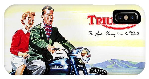 Motorcycle iPhone Case - Triumph 1953 by Mark Rogan
