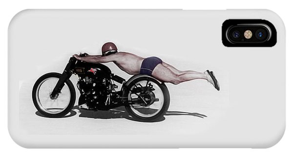 Motorcycle iPhone Case - Roland Rollie Free by Mark Rogan