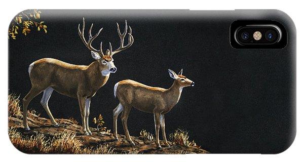 Mule Deer iPhone Case - Mule Deer Ridge by Crista Forest