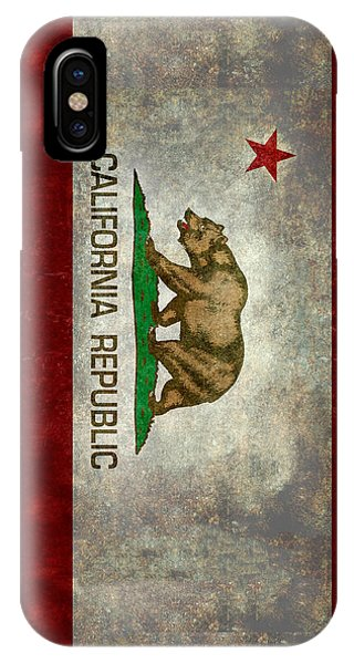 Sacramento iPhone X Case - California Republic State Flag Retro Style by Bruce Stanfield