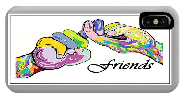 Friends . . . An American Sign Language Painting IPhone Case