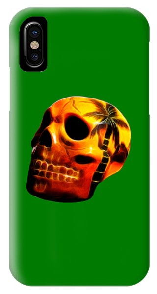 Glowing Skull IPhone Case
