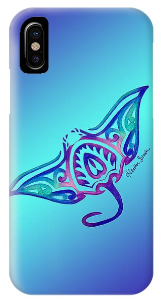 Tribal Manta Ray IPhone Case