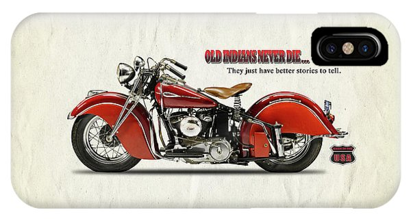 Asia iPhone Case - Old Indians Never Die by Mark Rogan