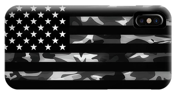 Patriotic iPhone Case - American Camouflage by Nicklas Gustafsson