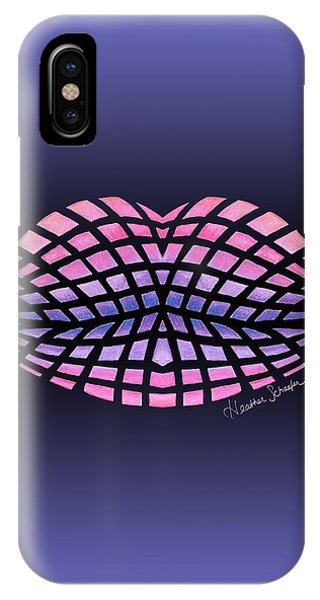 Vasarely Style Lips IPhone Case
