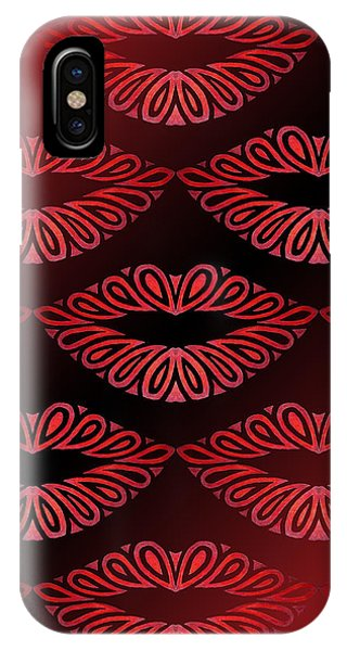 Tribal Lips IPhone Case