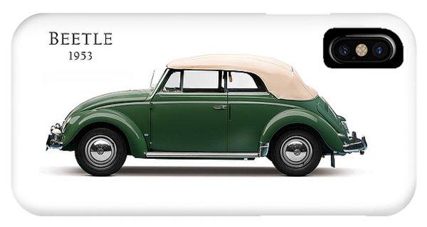 Volkswagen iPhone Case - Vw Beetle 1953 by Mark Rogan