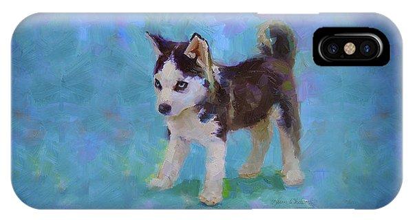 Alaskan Husky Sled Dog Puppy IPhone Case