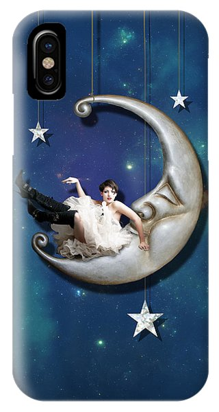 Paper iPhone Case - Paper Moon by Linda Lees
