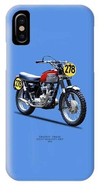 Trial iPhone Case - 1964 Steve Mcqueen Isdt by Mark Rogan