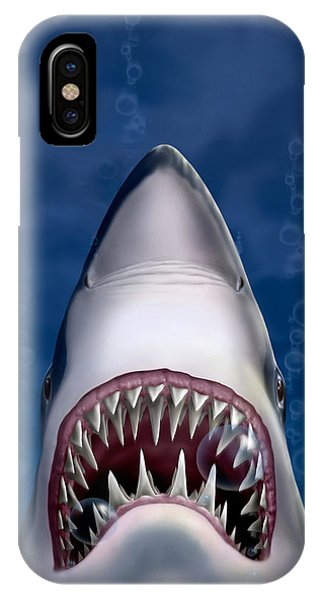 Jaws Great White Shark Art IPhone Case