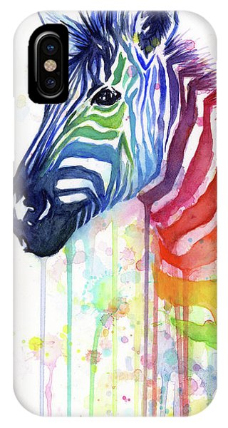 Fruit iPhone Case - Rainbow Zebra - Ode To Fruit Stripes by Olga Shvartsur