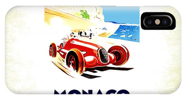 Sport iPhone X Case - Monaco 1937 by Mark Rogan