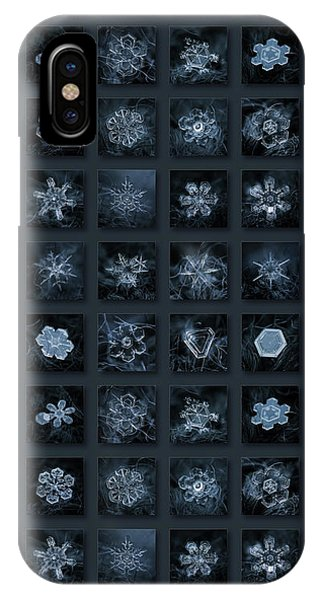 Snowflake Collage - Season 2013 Dark Crystals IPhone Case