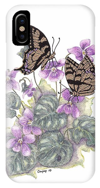 As Close To The Flowers IPhone Case