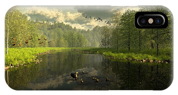 As The River Flows IPhone Case