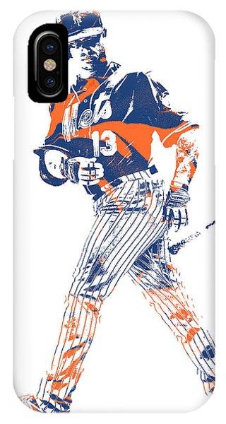 New York Mets iPhone Case - Asdrubal Cabrera New York Mets Pixel Art 1 by Joe Hamilton