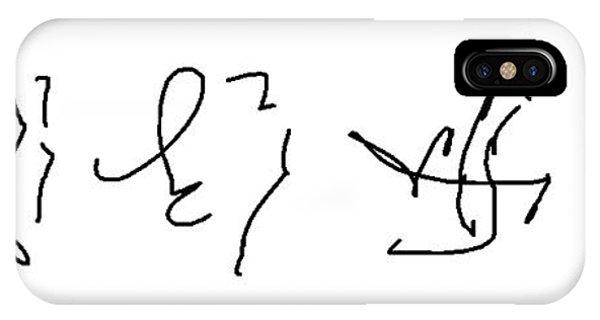 Asemic Writing 02 IPhone Case