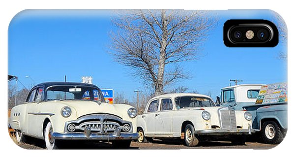 Ash Fork Vintage Cars Along Historic Route 66 IPhone Case