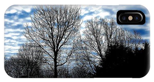 Ash Trees Against A Mackerel Sky IPhone Case