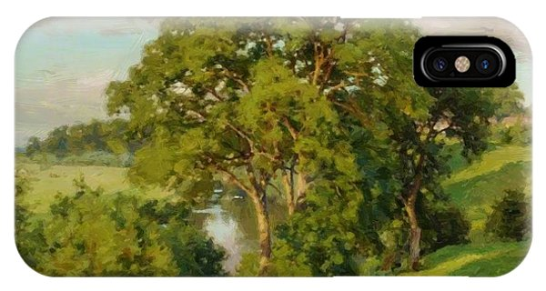 Ash Trees At Cropthorne Worcestershire IPhone Case