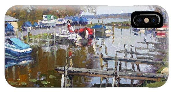 Waterscape iPhone Case - Ashville Bay Marina by Ylli Haruni