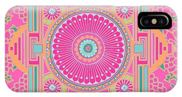 IPhone Case featuring the digital art Asian Inspiration Mandala by Joy McKenzie