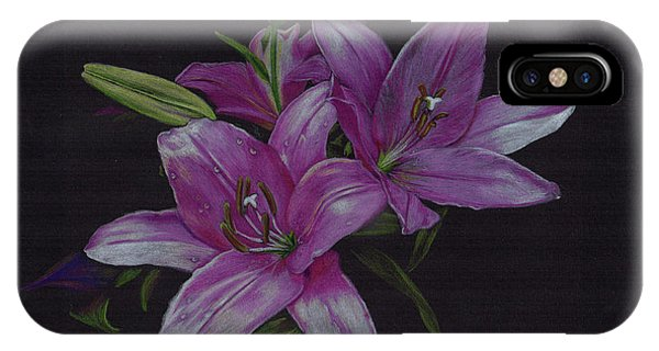 Asian Lillies IPhone Case