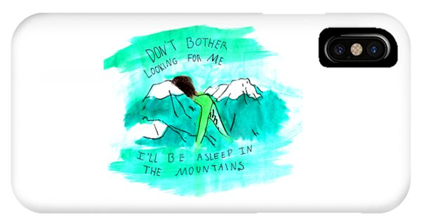 Asleep In The Mountains IPhone Case