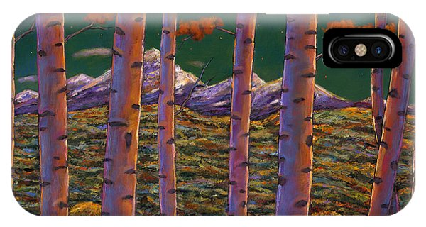 Rocky Mountain iPhone Case - Aspen At Night by Johnathan Harris