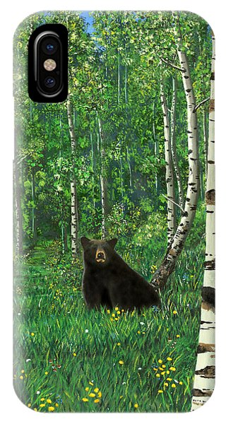 Aspen Bear Nursery IPhone Case