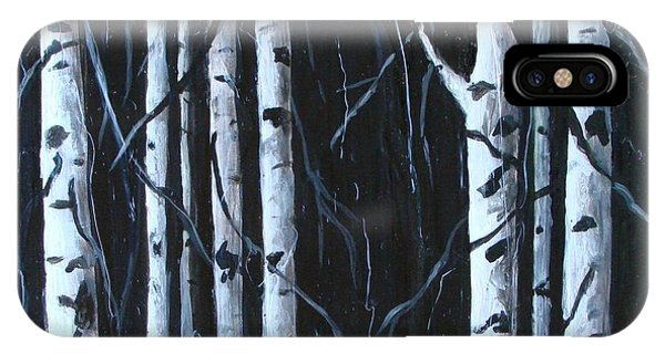 IPhone Case featuring the painting Aspen Grove by Phyllis Howard