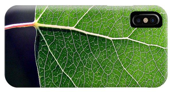 Aspen Leaf Veins IPhone Case