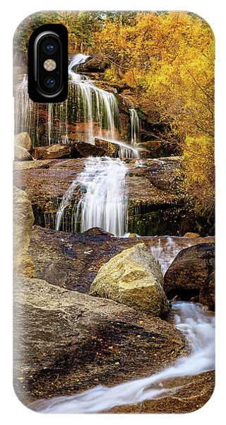 Aspen-lined Waterfalls IPhone Case