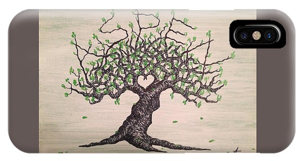 IPhone Case featuring the drawing Aspen Love Tree by Aaron Bombalicki