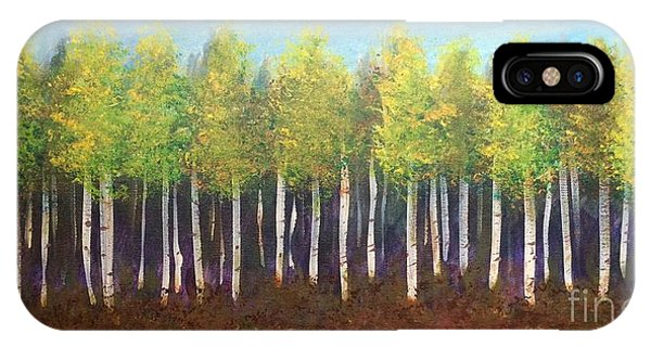 IPhone Case featuring the painting Aspen Song by Lisa DuBois