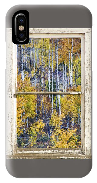 Aspen Tree Magic Cottonwood Pass White Farm House Window Art IPhone Case