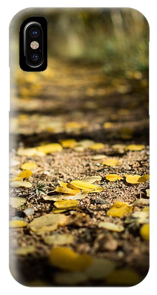 Aspen Leaves On Trail IPhone Case