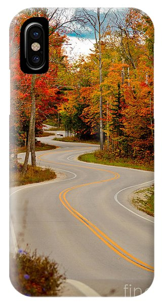 Asphalt Creek In Door County IPhone Case