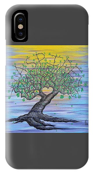 IPhone Case featuring the drawing Aspire Love Tree by Aaron Bombalicki