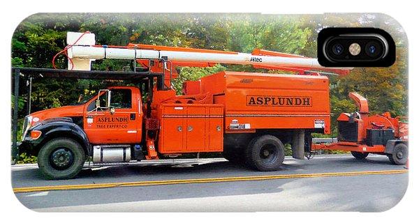 Asplundh Tree Expert Company Trucks IPhone Case
