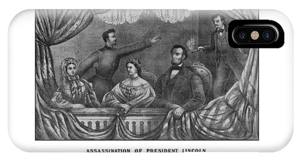 United States Presidents iPhone Case - Assassination Of President Lincoln by War Is Hell Store