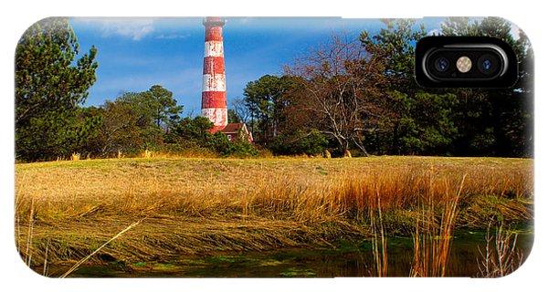 Assateague Lighthouse Reflection IPhone Case