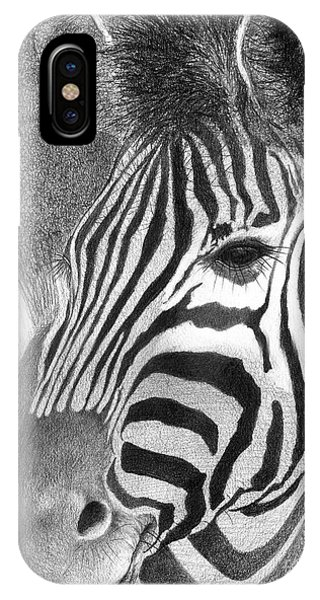 IPhone Case featuring the drawing Assiduous by Phyllis Howard