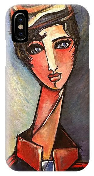 IPhone Case featuring the painting Assisente Di Volo by Laurie Maves ART