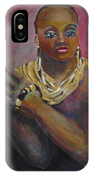 IPhone Case featuring the painting Assured by Saundra Johnson